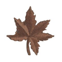 12PCS Embroidered Fabric Patches Sticker Iron Sew On Applique [Leaf Brown]