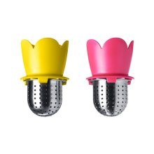 Set of 2 Stainless Steel Tea Bag/Tea Mesh Strainer/Tea Infuser,YELLOW & RED