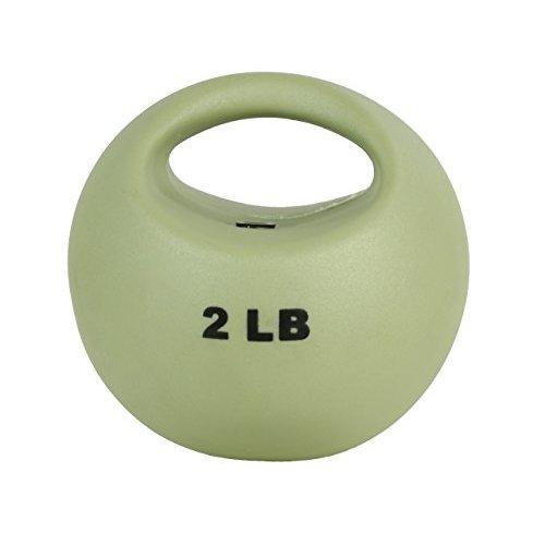 CanDo 10 3290 One Handle Medicine Ball 2 lb Tan
