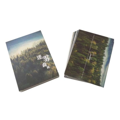 Postcard Hand Set Collection Set City View Painting Greeting Card  #4