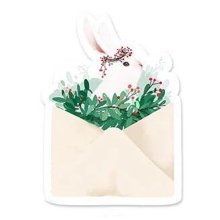 5 Pads Cute Rabbit Office Desktop Note Perfect Self-stick Note Sticky Notes, B