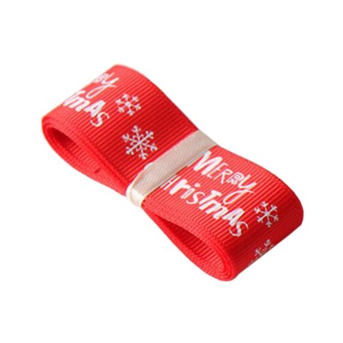 Red Gift Wrapping Streamers Party Supply Christmas Decor Ribbon
