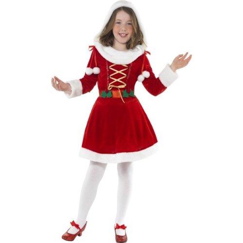 Children's Red Little Miss Santa Costume. -  santa little miss costume outfit christmas fancy dress girls medium red years