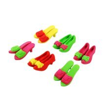 10 Pieces Of Fashion Cute Cartoon Erasers High-Heeled Shoes Modeling
