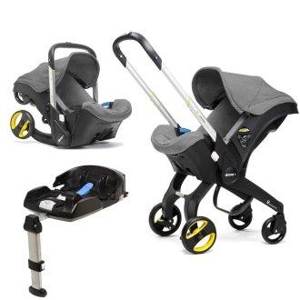 Doona Car Seat Stroller & ISOFIX Base - Storm