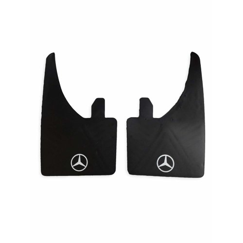 White Logo Universal Fit Mercedes Benz Models Mudflaps Front or Rear