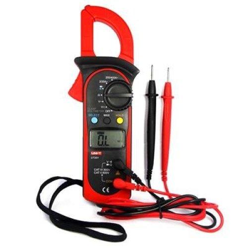 UNI-T UT201 Auto-Ranging AC DC Digital Handheld Clamp Meter Multimeter(Red&Black)