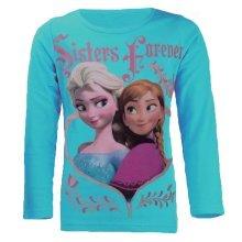 Frozen T Shirt - Sisters - Blue