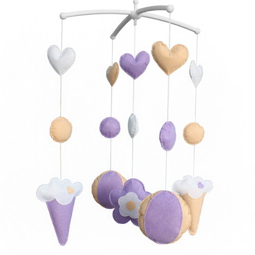 Wind-up Crib Mobile, Baby Gift [Sweet Ice Cream], Hanging Toys