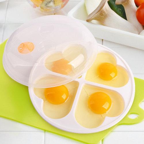 4 Grid Heart-shaped Egg Steamer