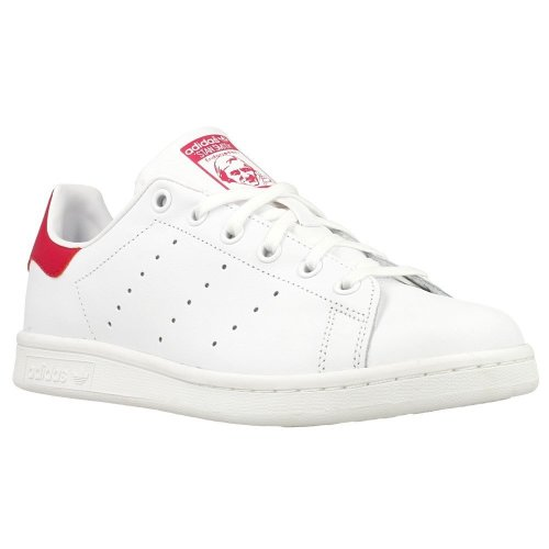 best sneakers 73c15 d4e09 Adidas Originals Stan Smith Junior Trainers - White & Pink