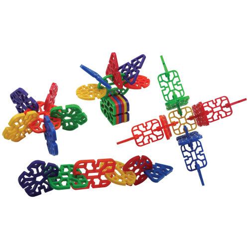 Bigjigs Toys Educational Cool Crazy Connectors - 432 Pieces