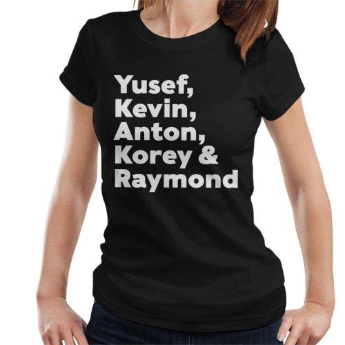 Yusef Kevin Anton Korey And Raymond Central Park Five Women's T-Shirt
