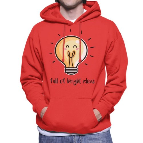 Bright Ideas Lightbulb Men's Hooded Sweatshirt