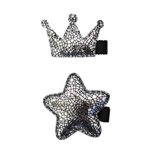 2PCS Baby Tiara Princess Crown Hairpin Girl Liu Hai Issuing Card