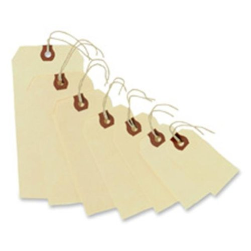 Consumer Products  Shipping Tags- No 3 Strung- 3-.75in.x1-.88in.- Manila