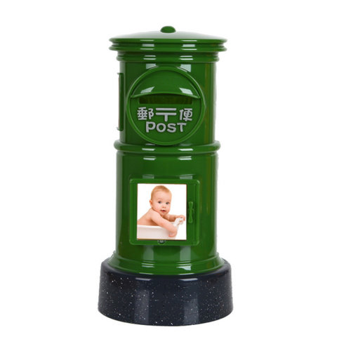 Creative Mailbox Cute Piggy Bank For Saving Money Coin Bank Green