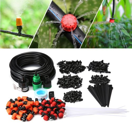KING DO WAY Micro Flow Drip Watering Irrigation Adjustable Misting Kits System Self Plant Garden Hose Automatic Watering Kits (15m pro)