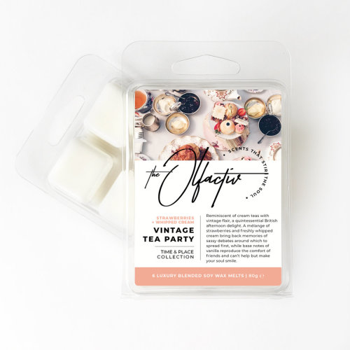 Wax Melts, 80g - Vintage Tea Party (Strawberries and Whipped Cream)