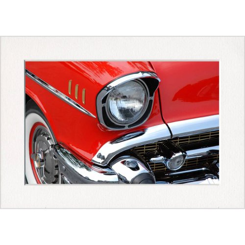 Retro Chevrolet Classic Car Print in a Textured Card Picture Mount to put into your own frame