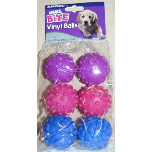 Ancol Small Bite Vinyl Ball Assorted, 4.5 cm