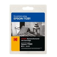 Kodak Remanufactured Epson T1281 Black Inkjet Ink, 5.9ml