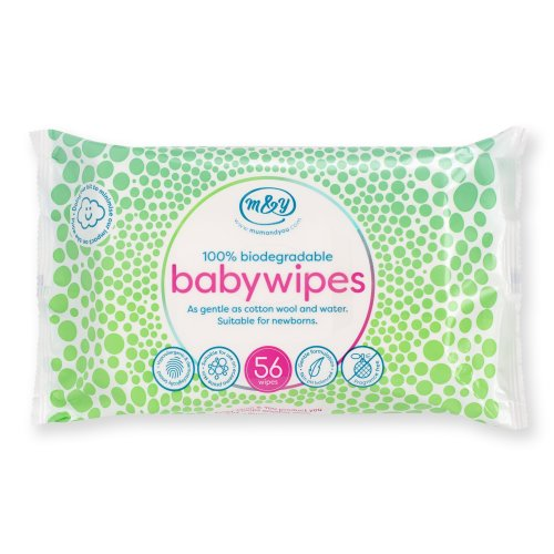Mum & You 100% Biodegradable Hypoallergenic & Dermatologically Tested Baby Wipes