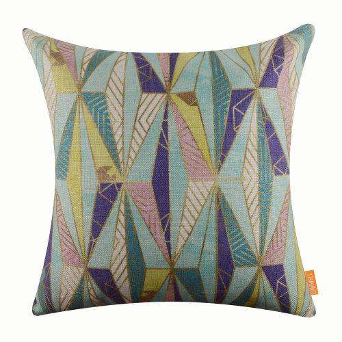 "18""x18"" Fashion Triangular Shape Geometry Burlap Pillow Cover Cushion Cover"