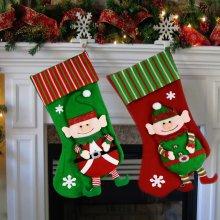 2pc Elf Christmas Stockings