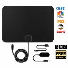 TV Aerial with 50+ Miles Range, [Newest Version] VicTsing Indoor TV Aerial Paper Thin Amplified 50+ Miles Range TV Digital HDTV Antenna with...