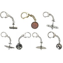 WW1 RAF 100 Year Anniversary Centenary WW2 Keyrings Souvenir Gifts Key Chains Aircraft Fighter Planes Bombers Poppy Tommy Helmet George V Coin