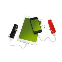 Power Sticks with Home Charger and Keychain-1 Black and 1 Red