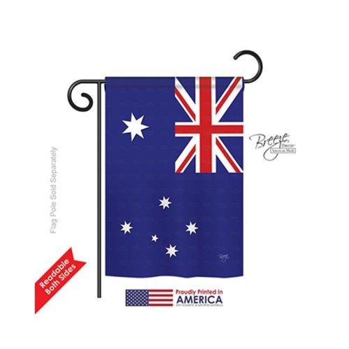 Breeze Decor 58122 Australia 2-Sided Impression Garden Flag - 13 x 18.5 in.