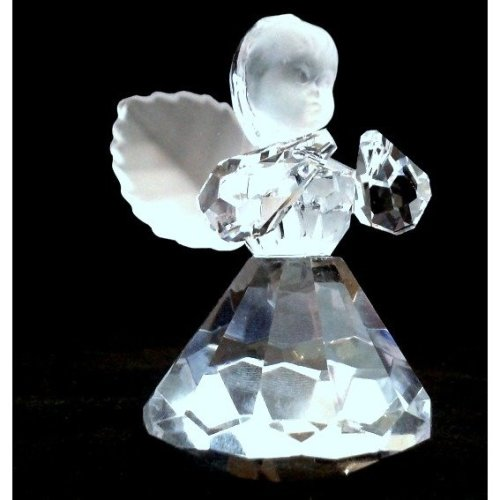 Cut Crystal Angel Figurine | Crystal Ornament