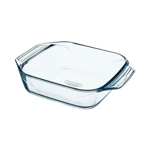 Pyrex 28 x 17 cm Medium Optimum Glass High Resistance Easy Grip Rectangular Roaster