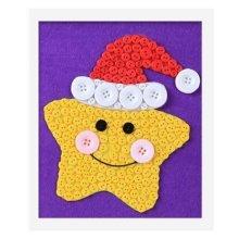 Beautiful Atar DIY Button Painting Mosaic Craft for Kids