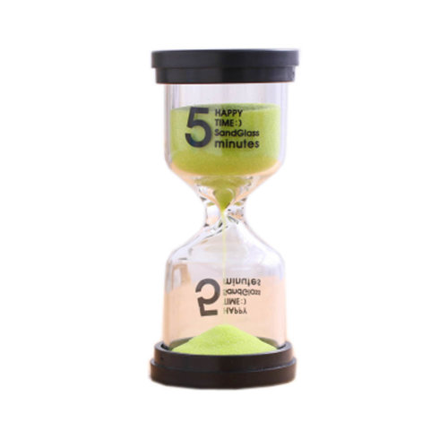 Colorful Sand Timer Hourglass Sandglass Small Ornaments Dropping Ueasily, 5 minutes +Green