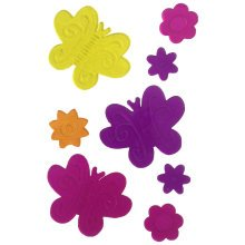 8PC Butterfly and Flower Vinyl Window Stickers Home Decoration Kid's bedroom TRIXES
