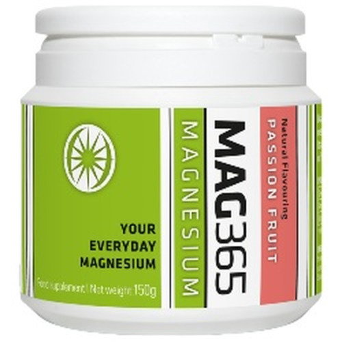 Mag365 Mag365 Magnesium Supplement 150g Passion Fruit Natural Flavours