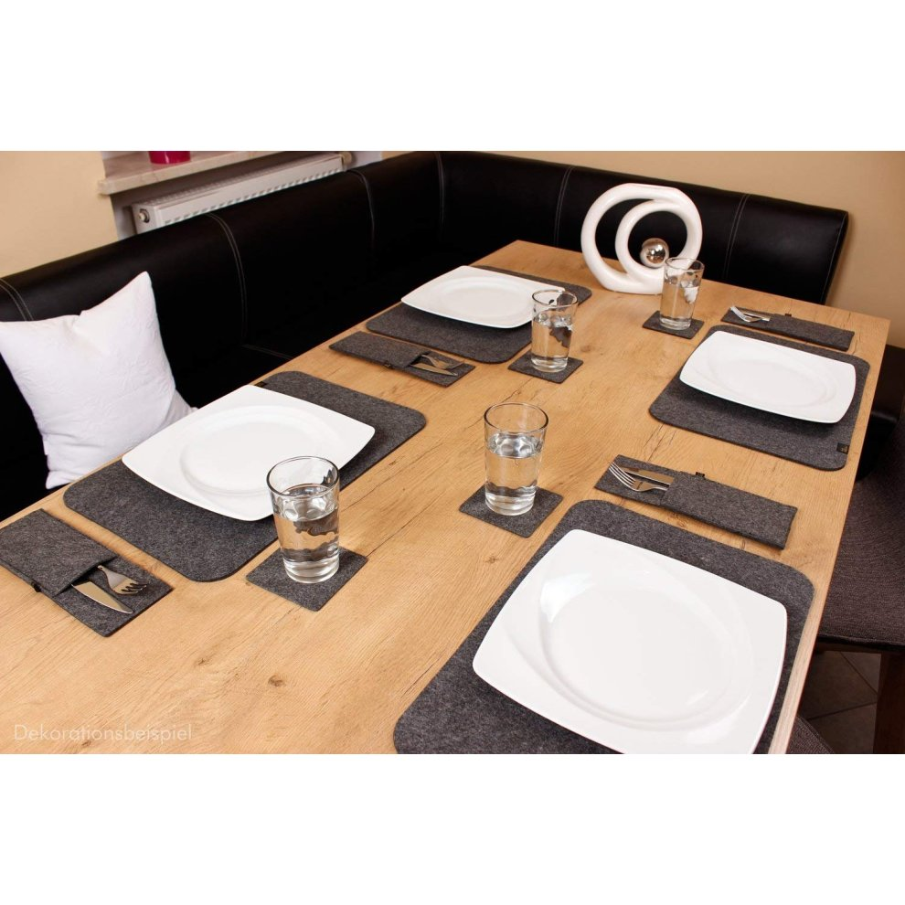 225 & Luxflair felt placemats for dining table modern design set of 4 exclusive felt table mats XXL size 30x45cm washable \u0026 durable assorted colours