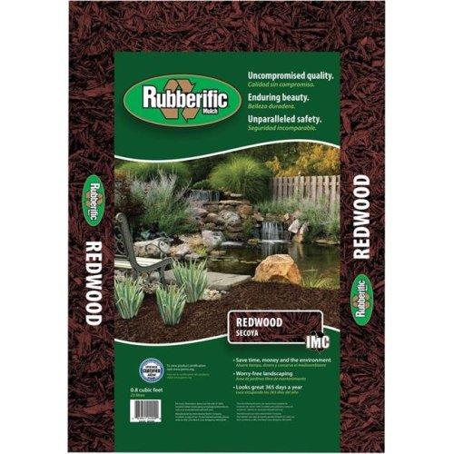 Rubberific 7138506 0.8 cu ft. x 9 sq ft. Rubber Mulch Redwood, Assorted