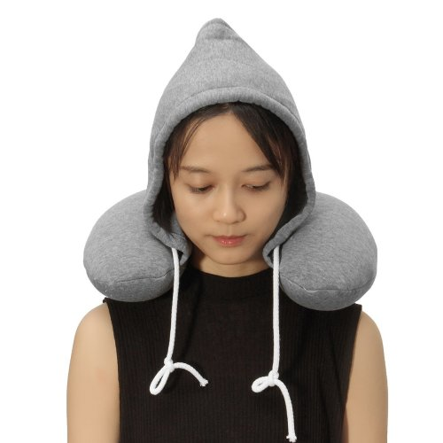 U Shaped Hooded Pillow Cushion Winter Warm Hat Rest Neck Support Winter Warm