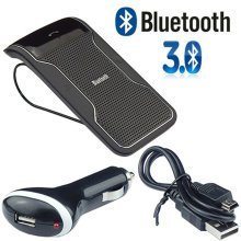Wireless Bluetooth HandsFree Car Kit Visor Clip For Smart Phone Mobile