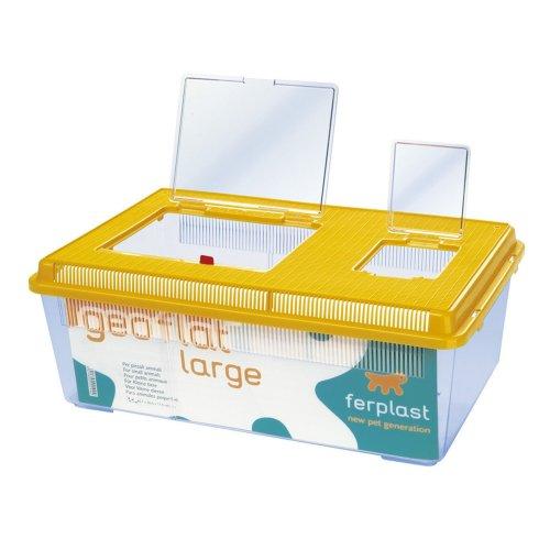 Ferplast Geo Plastic Flat Tank For Small Animals - ASRTD