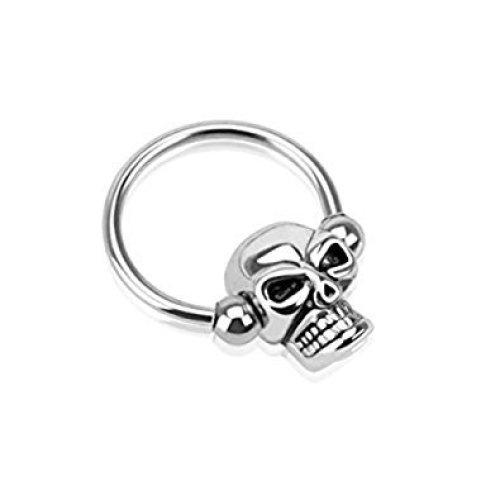 Skull Ball Surgical Steel Horseshoe / Circular Barbel CBR Universal Piecing Body Jewellery