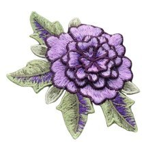 3 Pcs Cloth Sew on Patches Embroidery Applique Applique Patches 3D Flower Purple