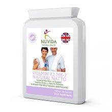 Vitamin K2 MK-7 / 60 x 100mcg Capsules / Derived from Natural Natto