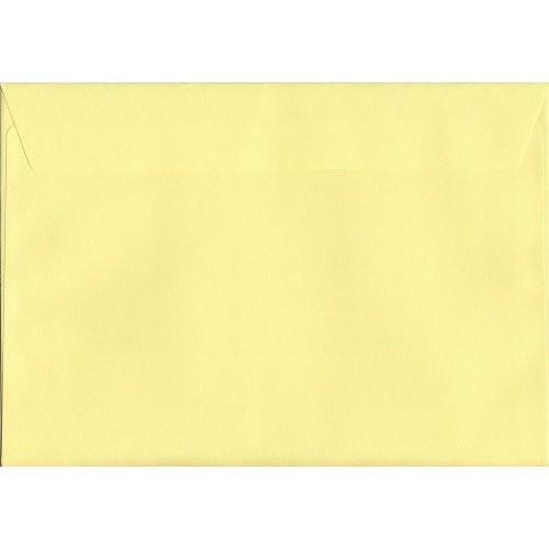 Lemon Yellow Peel/Seal C5/A5 Coloured Yellow Envelopes. 120gsm Luxury FSC Certified Paper. 162mm x 229mm. Wallet Style Envelope.