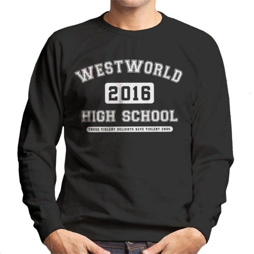 Westworld High School Varsity Text Men's Sweatshirt