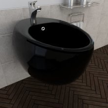 Wall Hung Bidet Black Ceramic